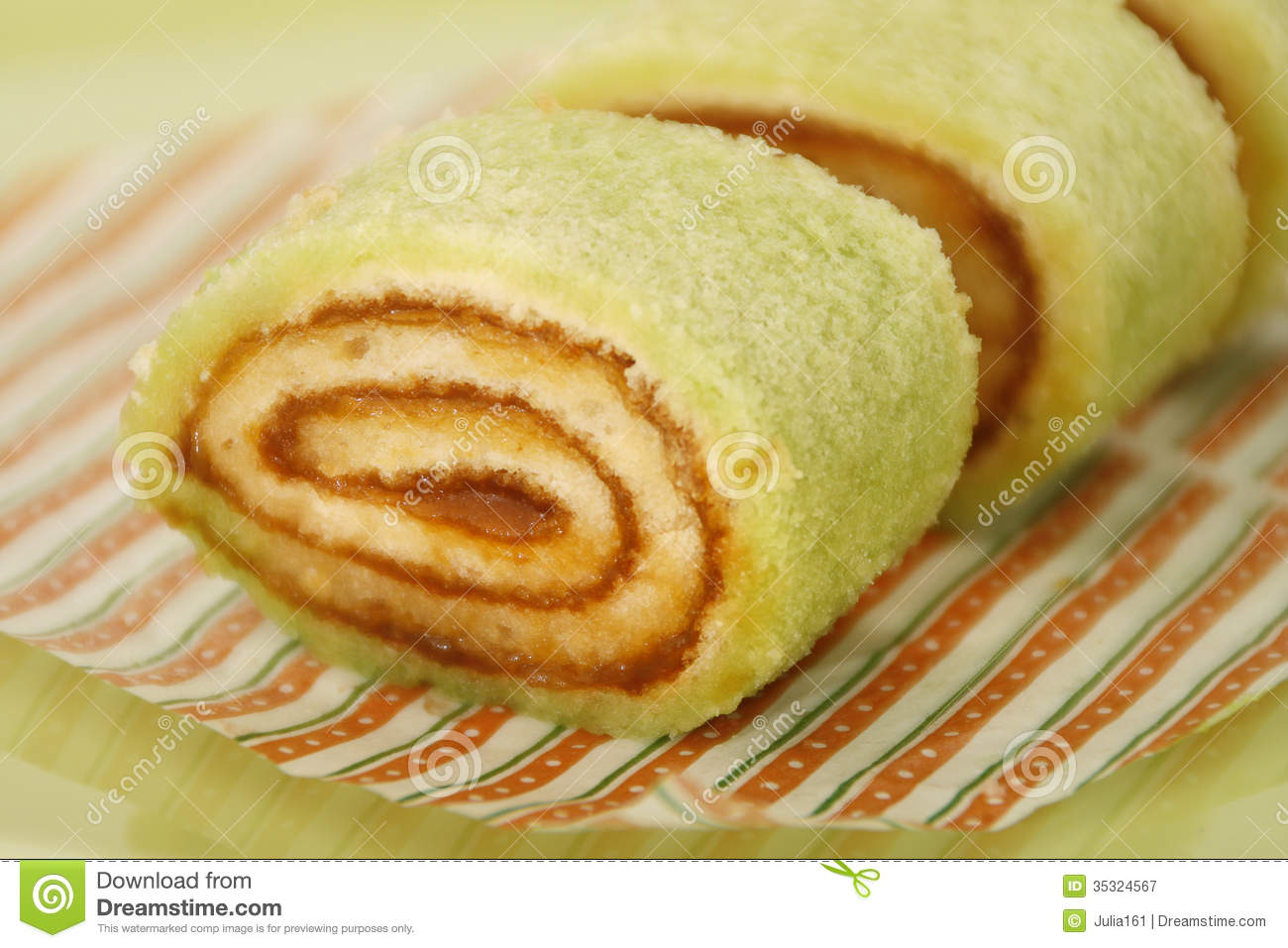 Sponge Cake Roll Royalty Free Stock Photography.