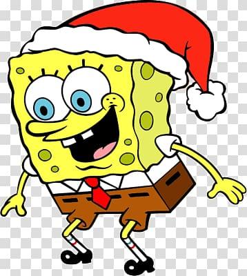 Spongebob Squarepants, Spongebob Xmas transparent background.