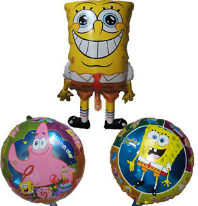 Details about 3PCES SPONGEBOB SQUAREPANTS PATRICK STAR MR.KRAB BALLOON  BIRTHDAY PARTY GIFT TOY.