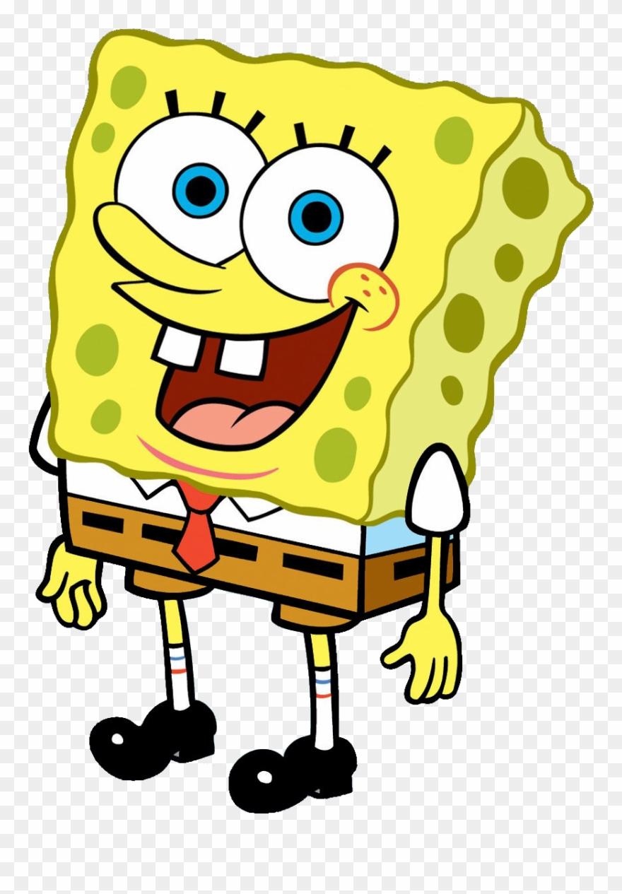 Clipart Black And White Library Boy Transparent Spongebob.