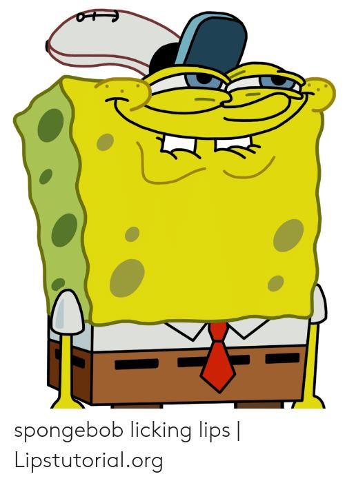 Spongebob Licking Lips.