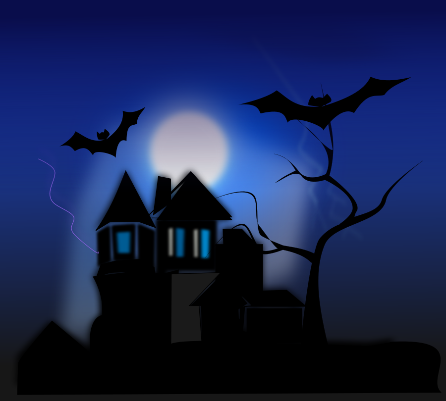 spooky house SVG Vector file, vector clip art svg file.
