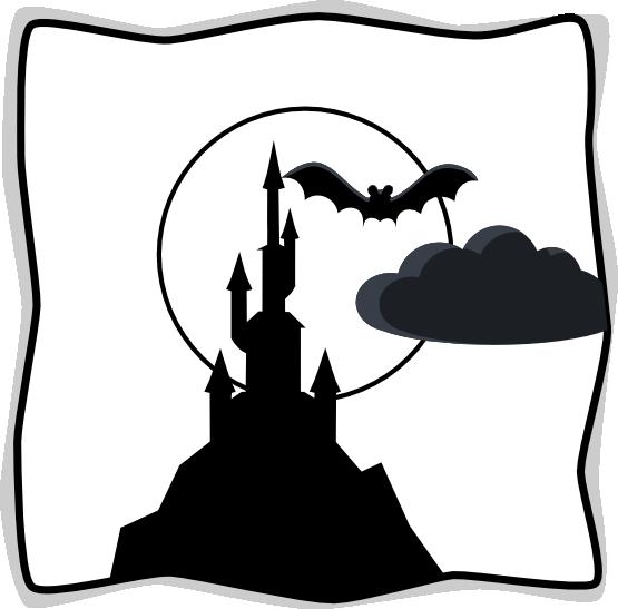 Spooky Castle Clipart.