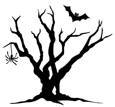 Spooky halloween clip art.