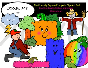 The Square Pumpkin Clipart Pack.