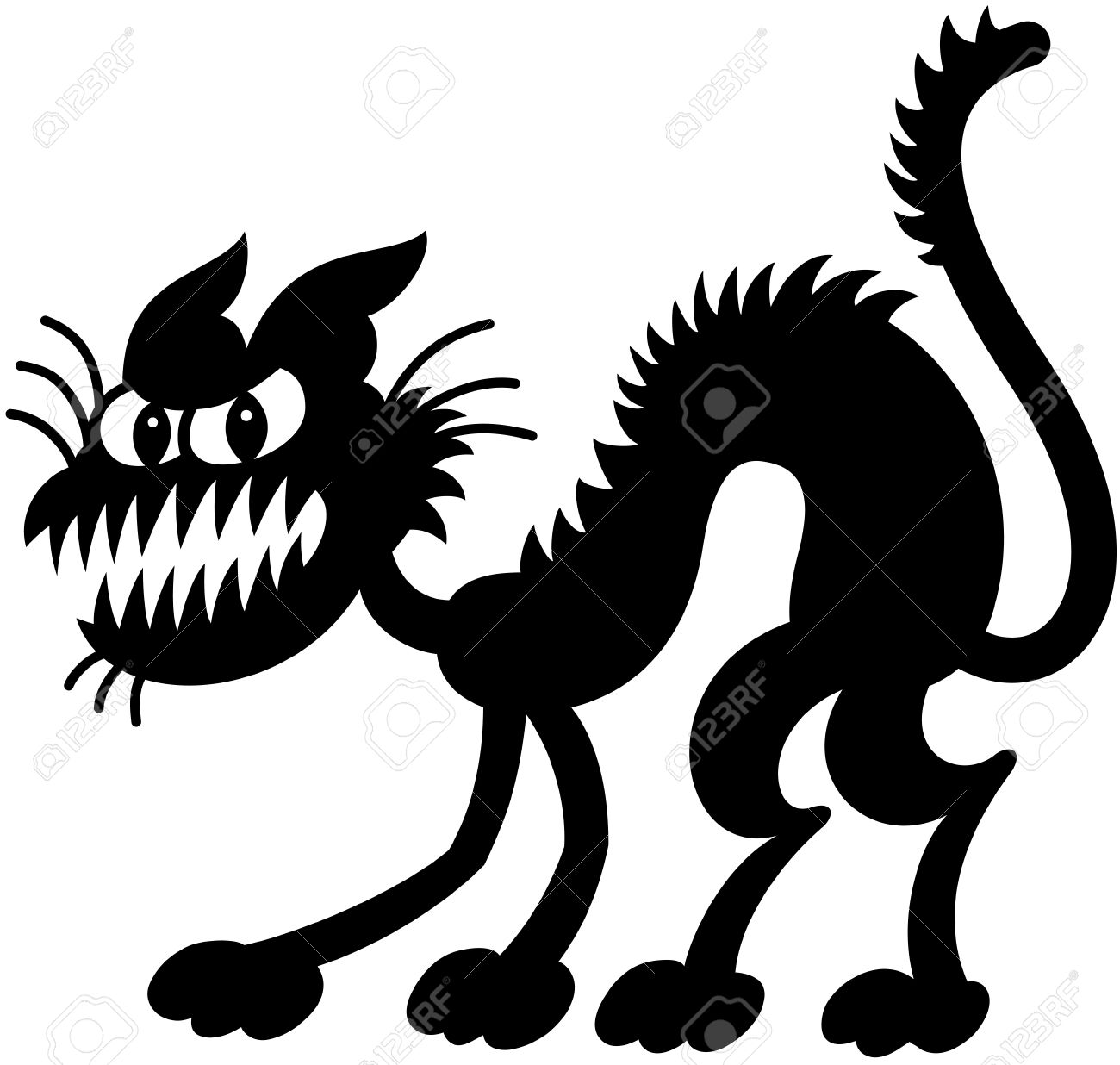 Showing post & media for Cartoon spooky cat.