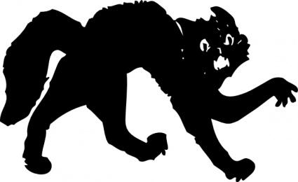 Halloween Cat Vector.