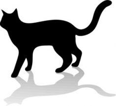 Spooky Black Cat Clipart.