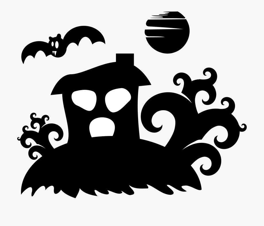 Silhouette Drawing Download Haunted House Ghost.