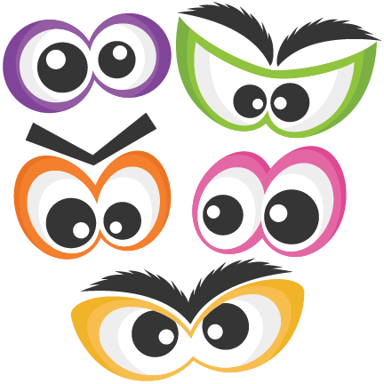 Halloween Spooky Eye Set SVG scrapbook cut file cute clipart.