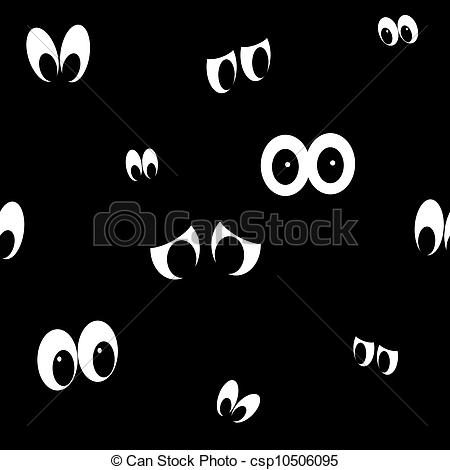 Seamless Spooky Eyes.