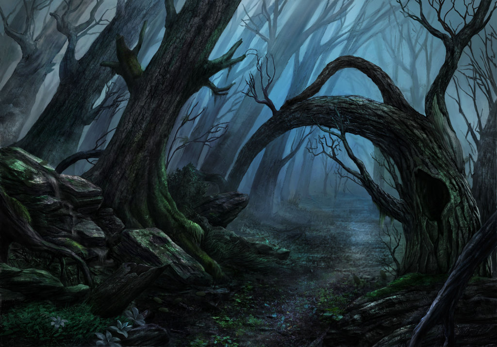 Spooky Forest Painting at PaintingValley.com.