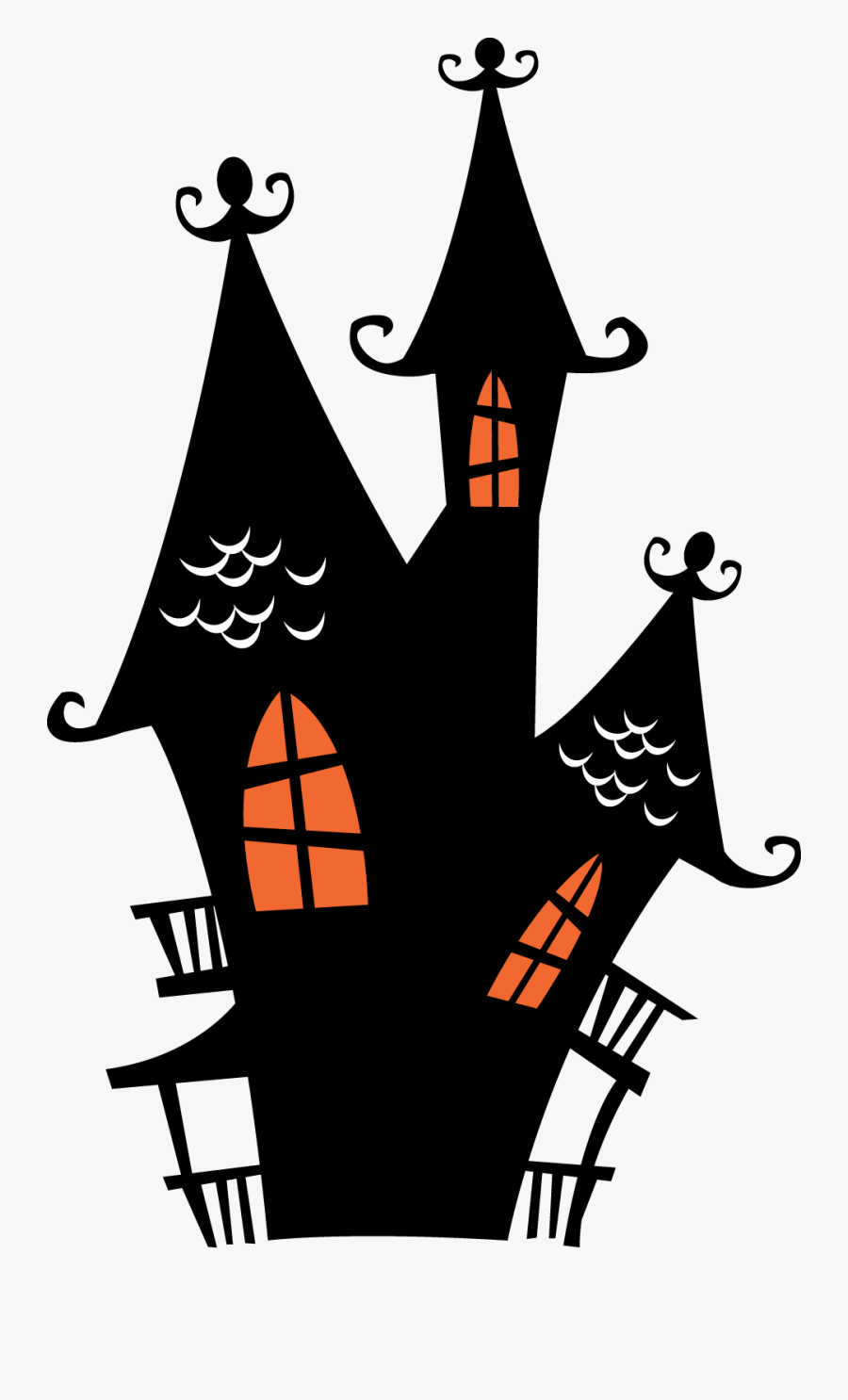 Spooky Clip Art Houses.