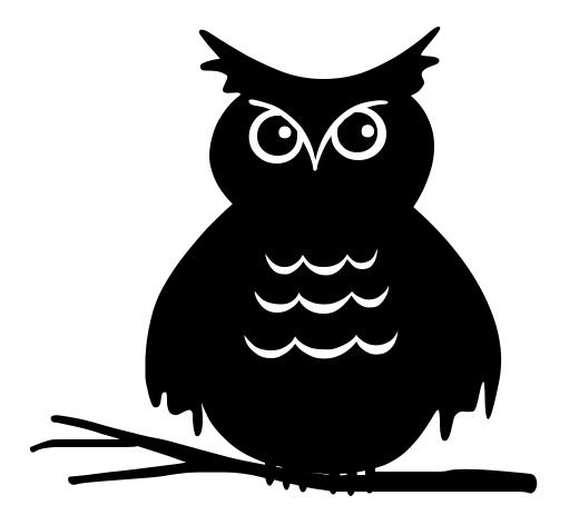 Halloween Black Owl Clipart.