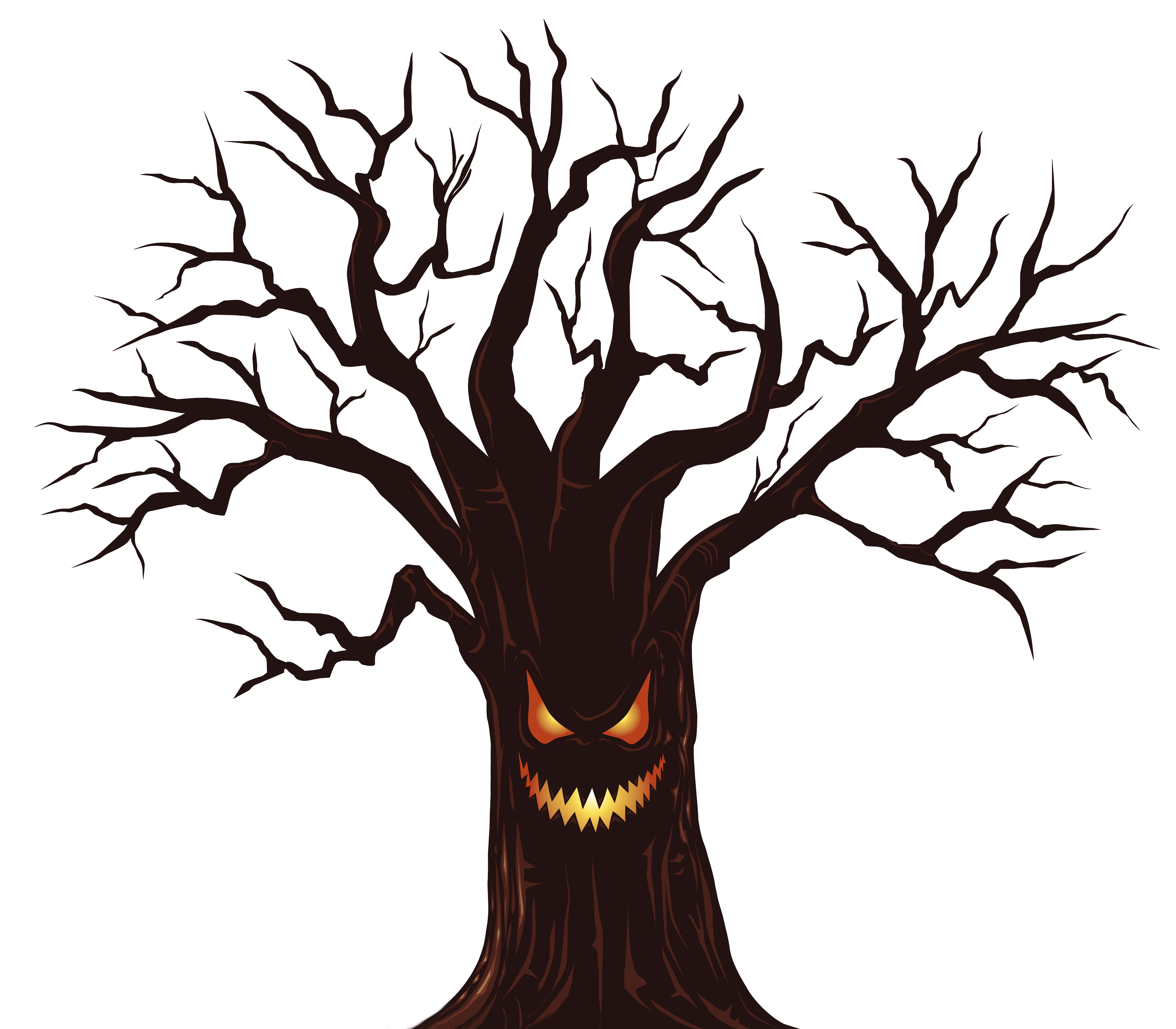 Halloween Spooky Tree PNG Clipart Image.
