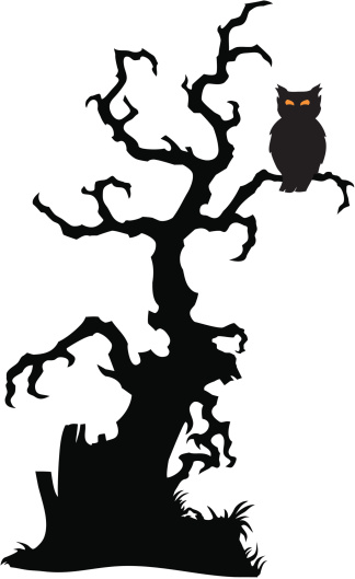 spooky tree clipart - Clipground