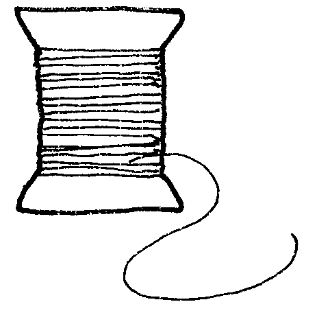 Thread clipart black and white.
