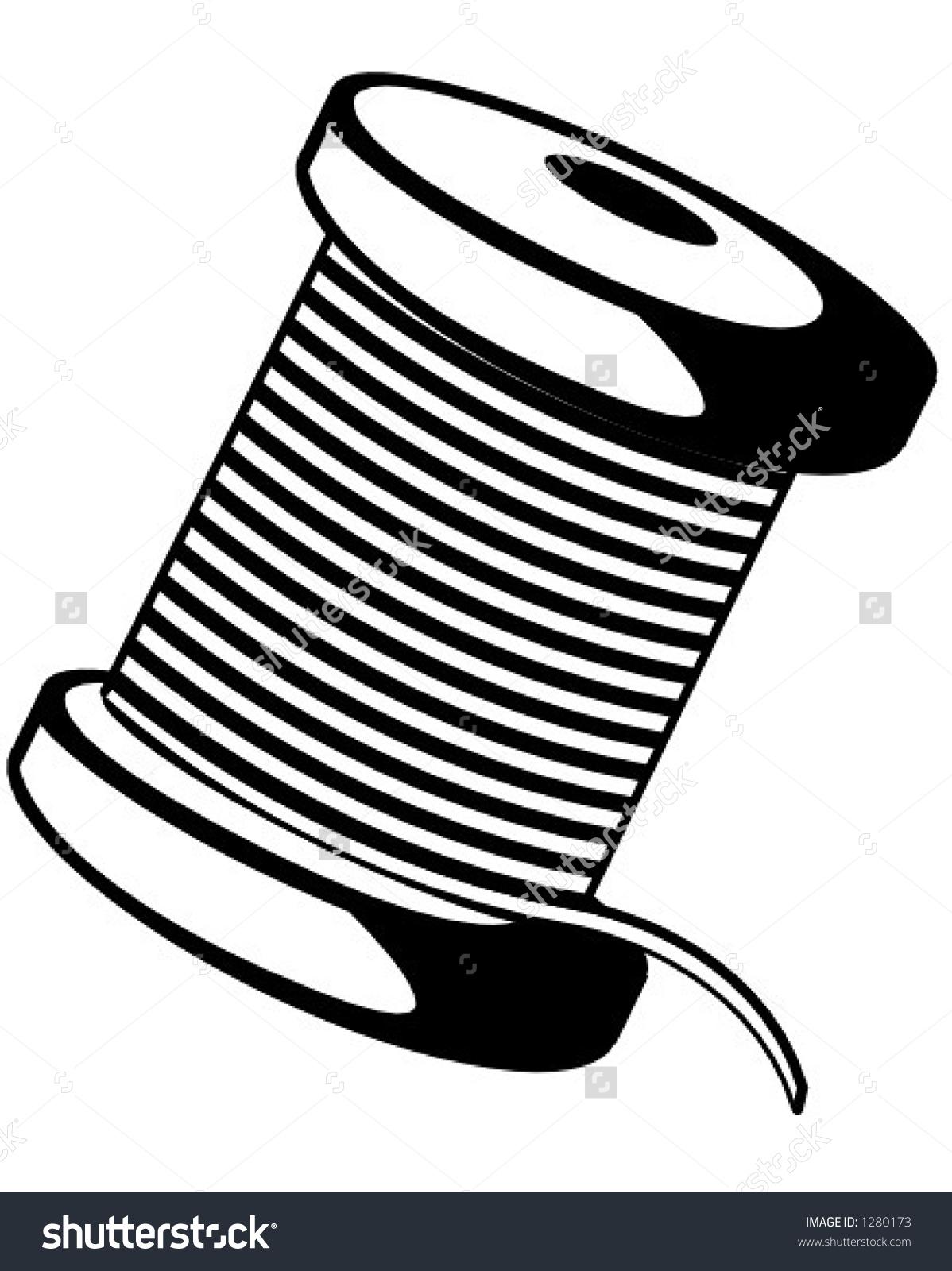 Spool Thread Stock Vector 1280173.