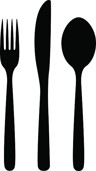 Spoon Clipart Black And White.