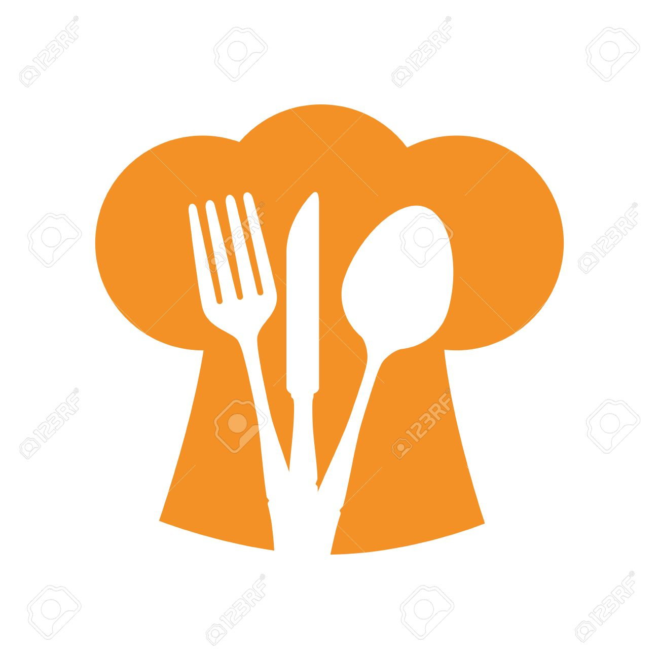 Colorful Spoon And Fork Clipart.
