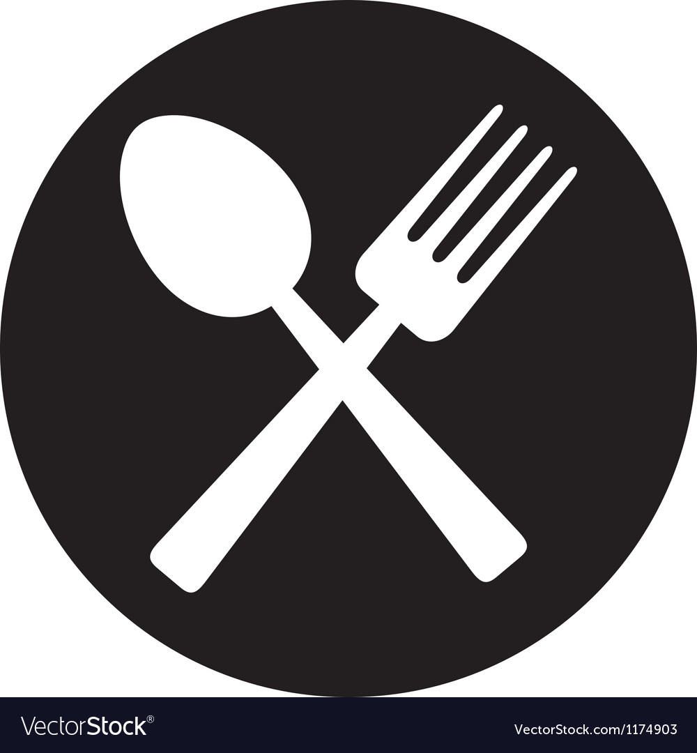 Crossed fork and spoon.