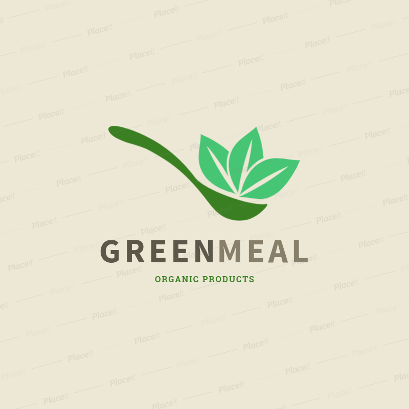 Nutritionist Logo Maker Featuring a Spoon Graphic with Organic Food 2536j.