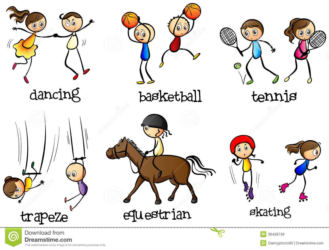 Clip Art Sports Activities.