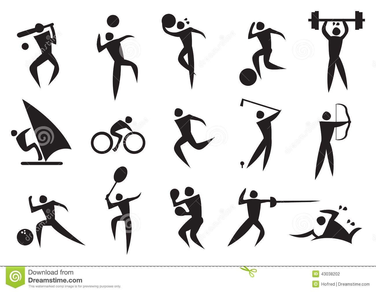 Pictogram Sport Activities Stock Photos, Images, & Pictures.
