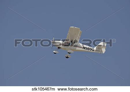 Stock Photo of An Aeropro Eurofox Light Sport Aircraft. stk105467m.