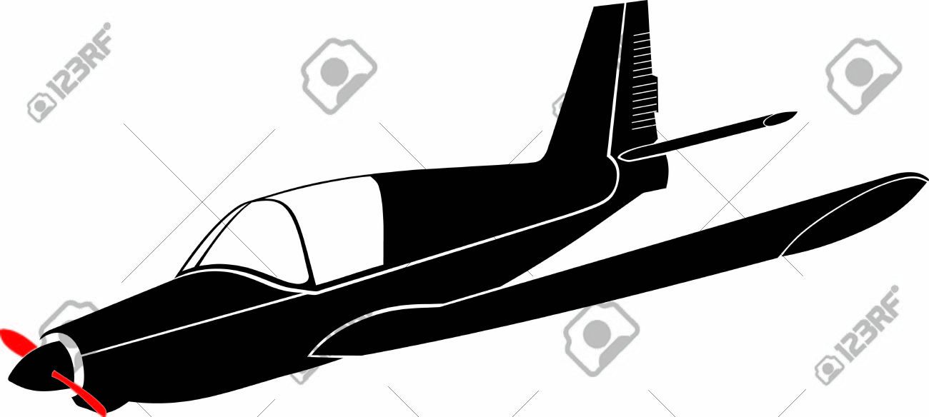 A Small Sport Aircraft Ready For Landing Royalty Free Cliparts.