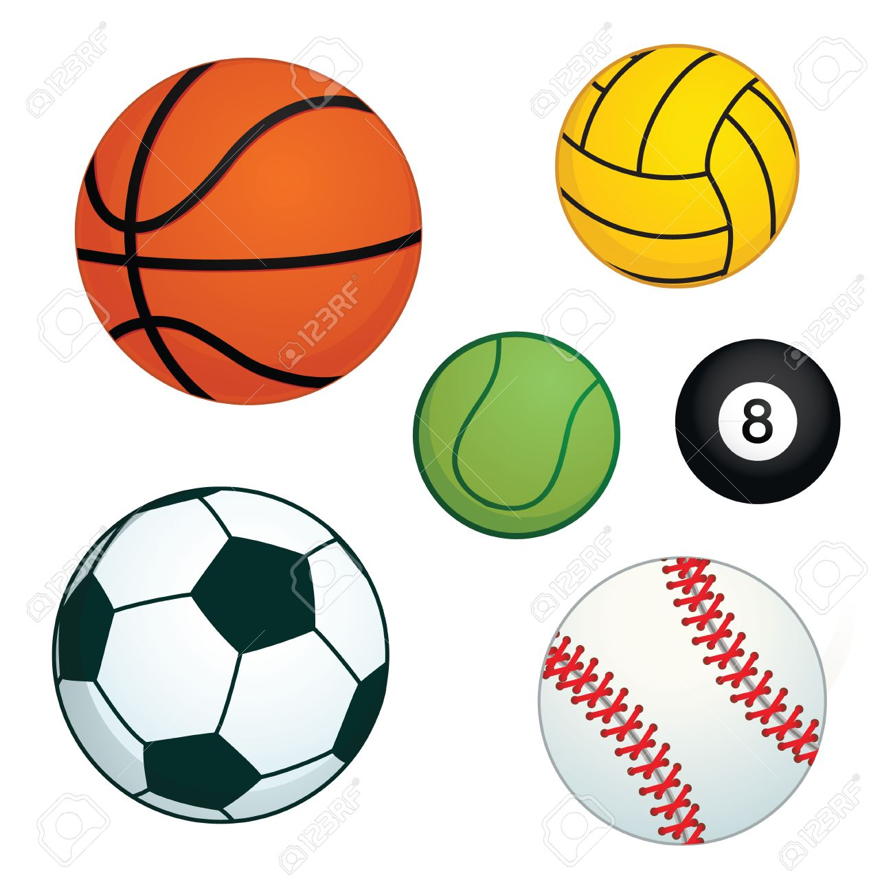 Sports Balls Clipart 14.