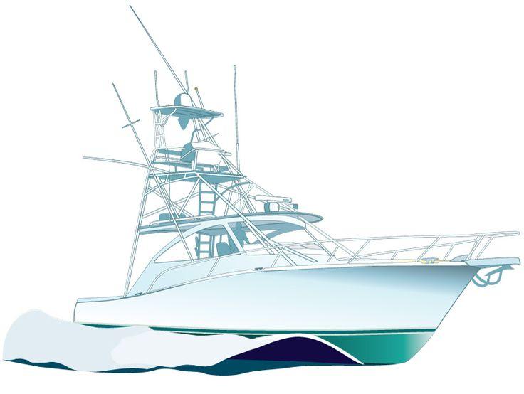 Sport fishing Boat Vector Illustration clipart http://www.