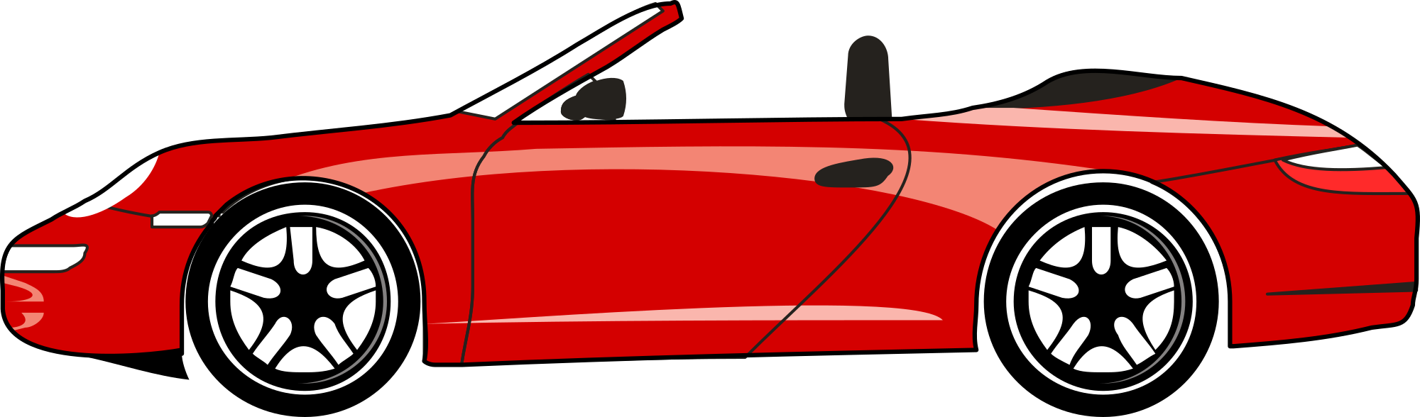 Free red sports car clipart clipart and vector image.