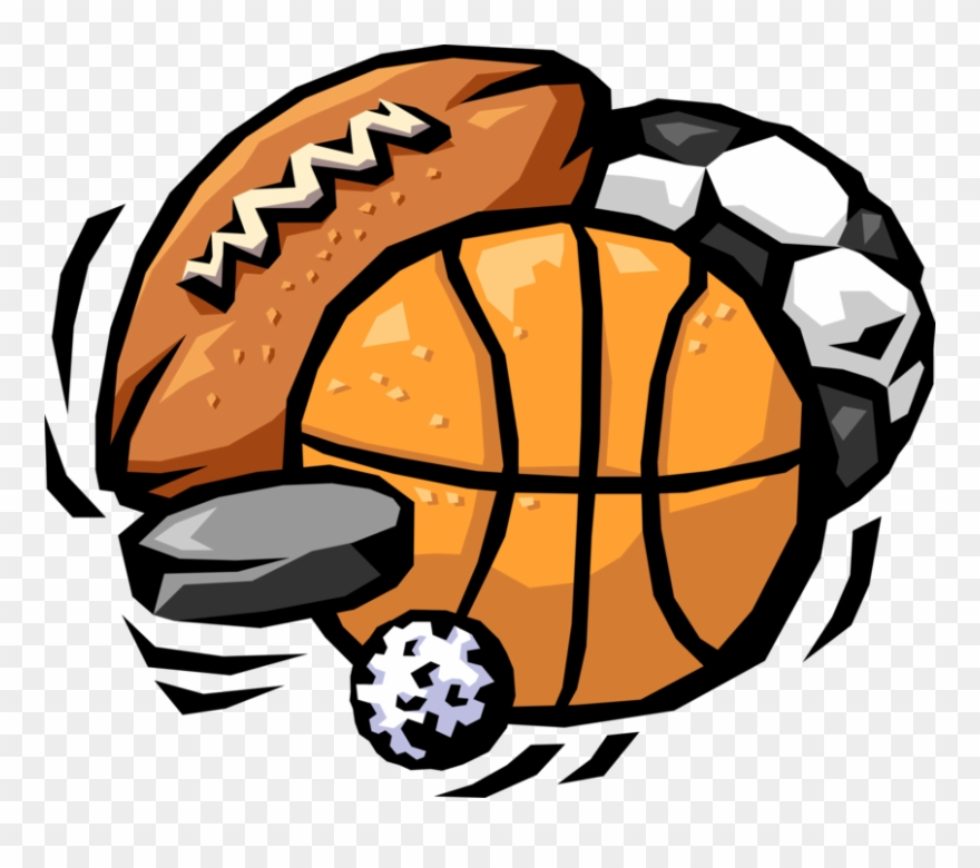 Vector Illustration Of Sports Balls With Football,.