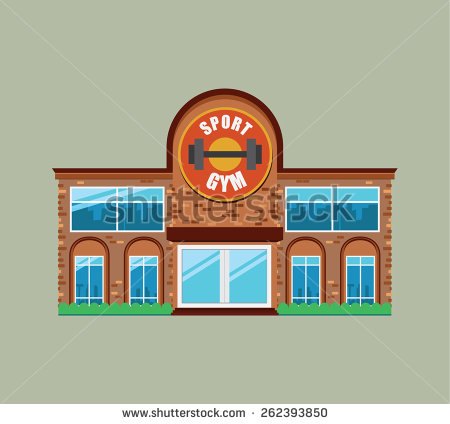 Fitness Center Building Clipart.