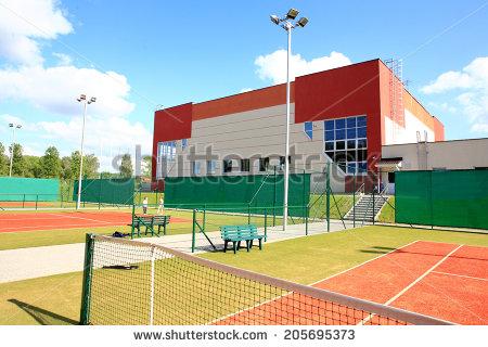 Sports centre clipart.
