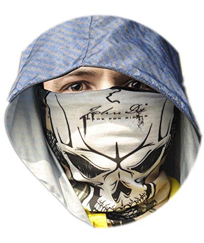 Arunners(tm) Skull Half Face Tube Mask Multi Function Headwear.