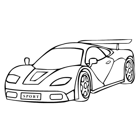 Cartoon Sports Car.