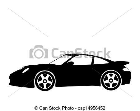 Clipart Vector of sport car 4.