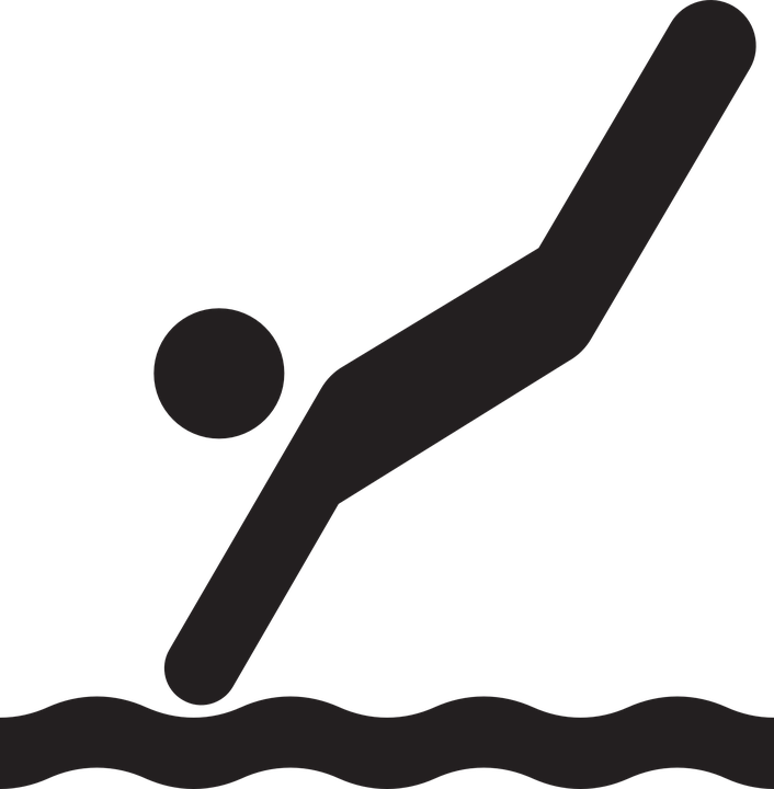 Free vector graphic: Diver, Silhouette, Diving, Sport.