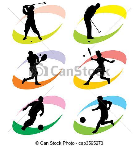 Vectors of sport icons.