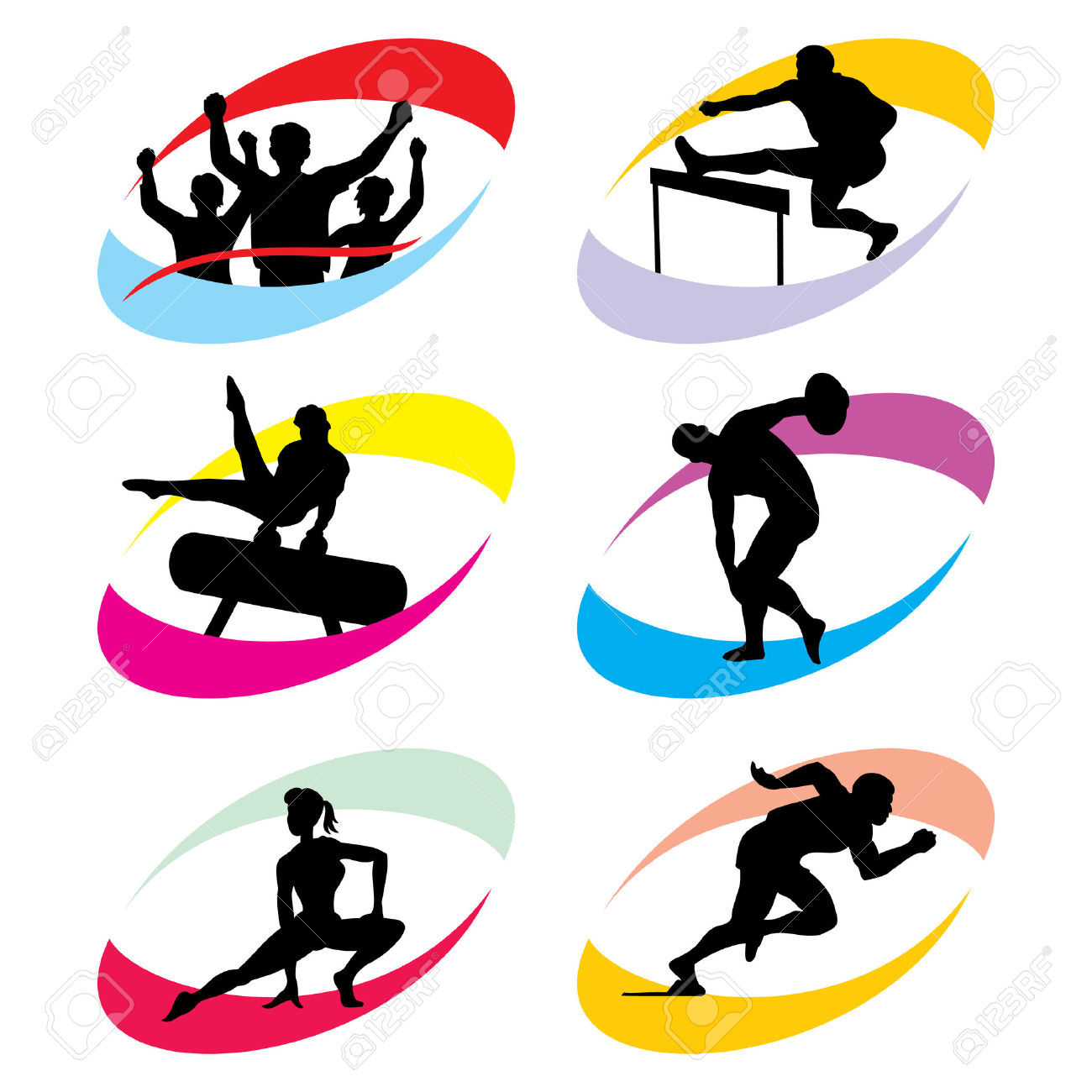Set Of Silhouette Icons Of The Sport And The Sports Competition.