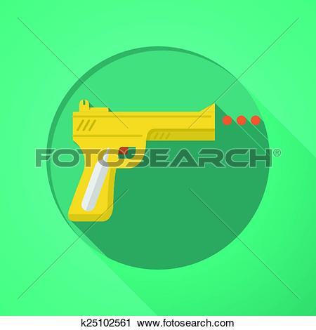 Clipart of Sport air gun flat color vector ico k25102561.