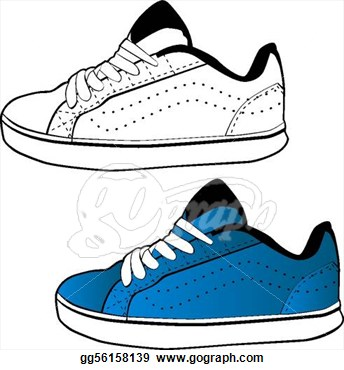 Nike Running Shoes Clipart.
