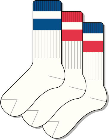 Sport Socks Clip Art, Vector Images & Illustrations.