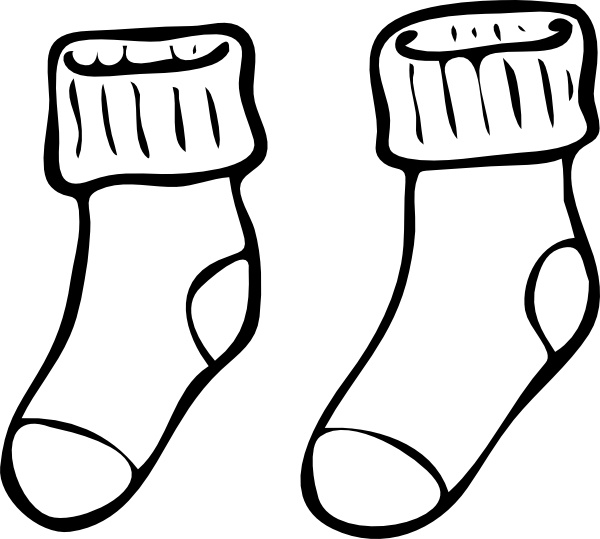 Clothing Pair Of Haning Socks clip art Free vector in Open office.
