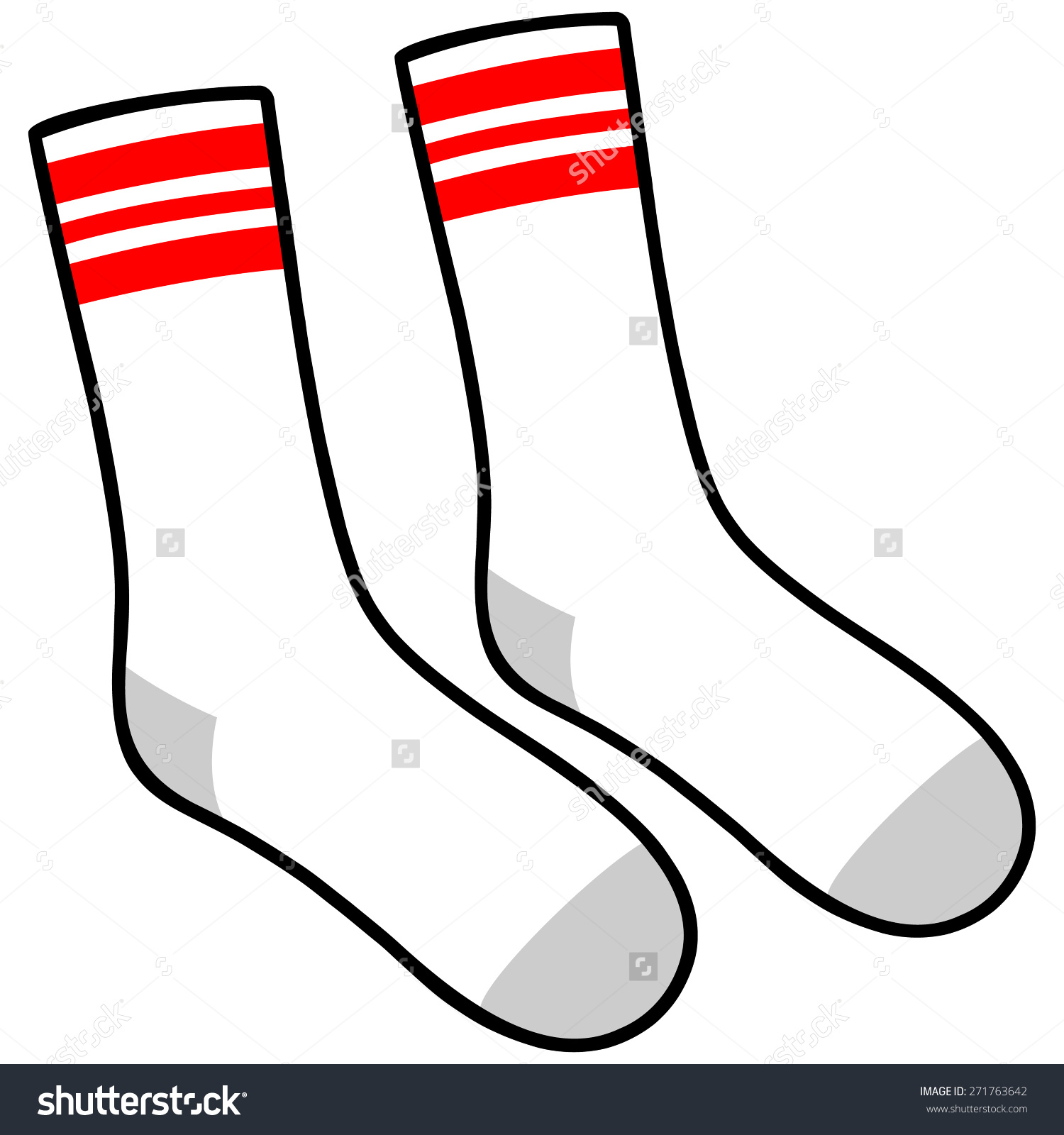 Tube Socks Stock Vector 271763642.