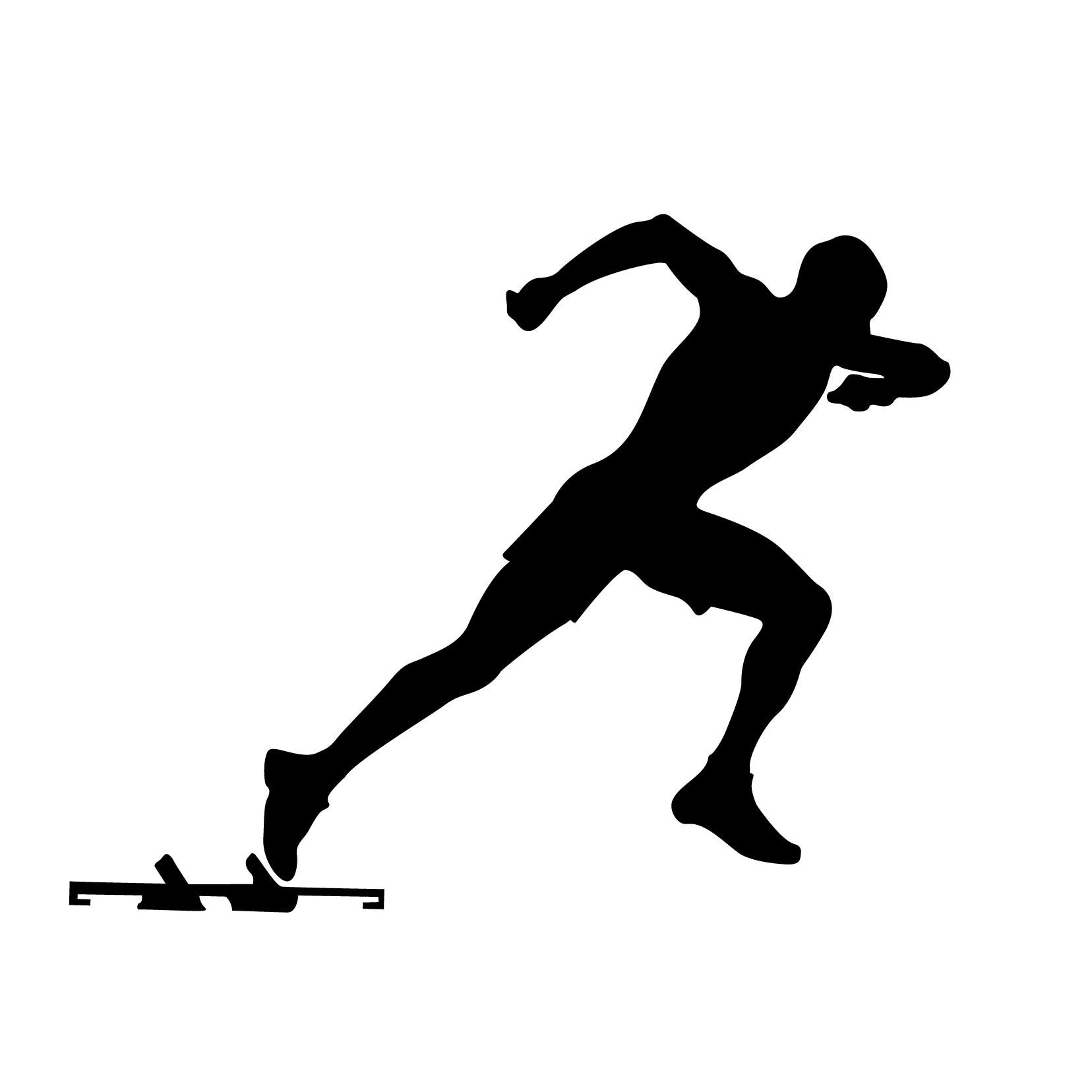 Track silhouette clipart.
