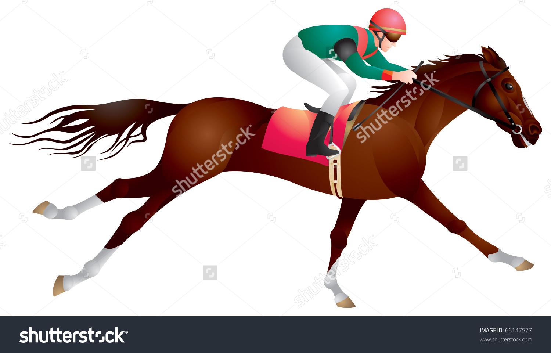 Derby Equestrian Sport Horse Rider Vector Stock Vector 66147577.