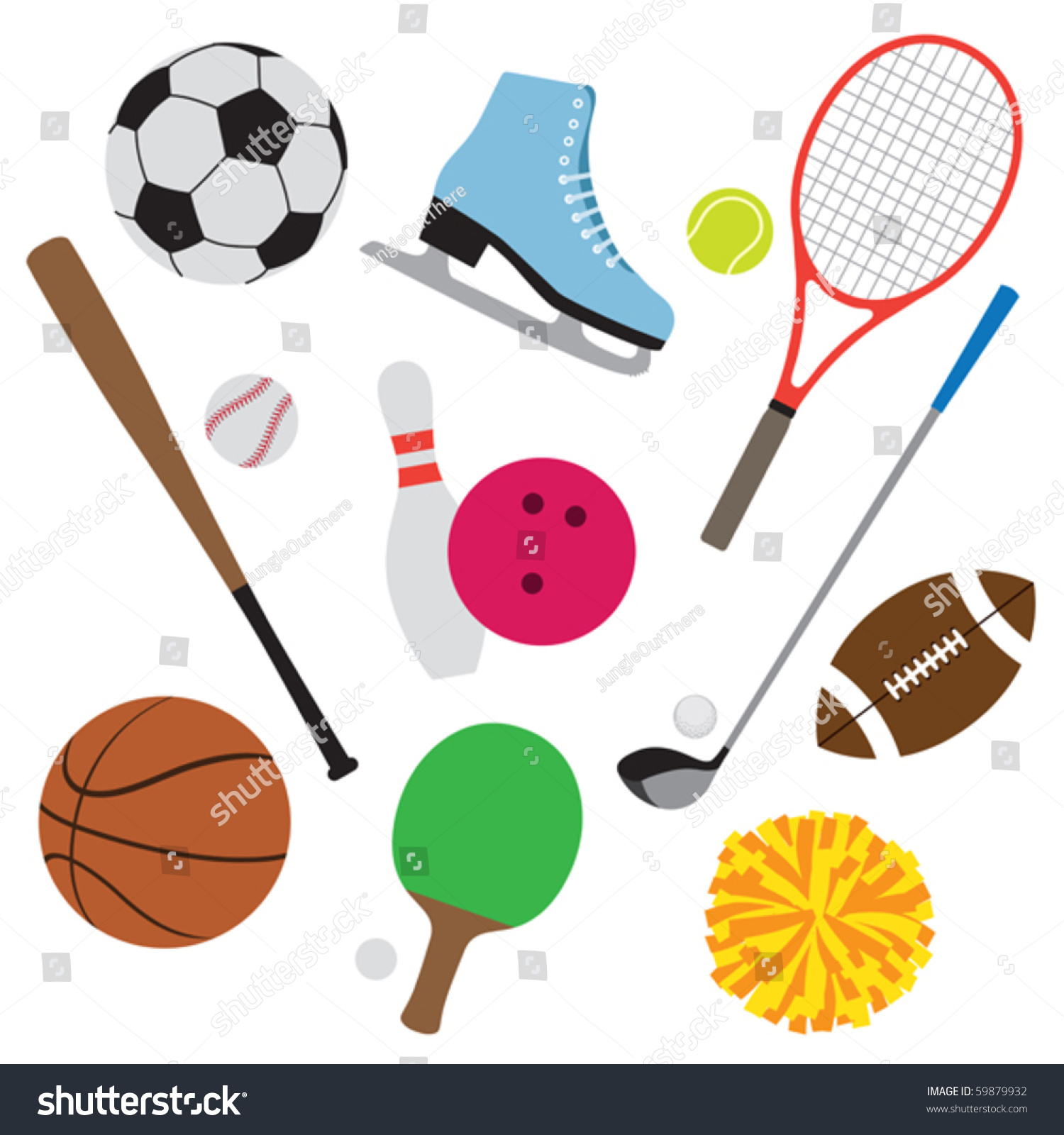 Sporting Equipment Clipart.